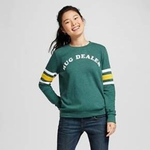 MIGHTY FINE HUG DEALER CREW OVERSIZE SWEATSHIRT LG